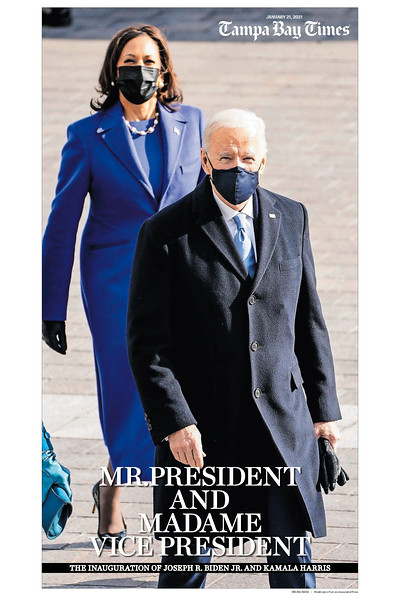 16 x 24 The Inauguration of Joseph R Biden and Kamala D Harris