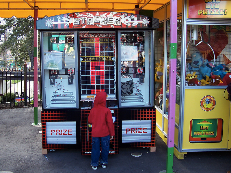 There was a new giant Stacker game.