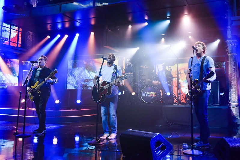 The Late Show with Stephen Colbert and guest Hootie & the Blowfish during Wednesday\'s May 1, 2019 show. Photo: Scott Kowalchyk/CBS ©2019 CBS Broadcasting Inc. All Rights Reserved.