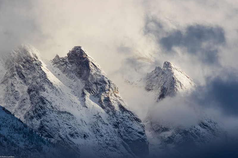 Teton Peaks in the Cloud