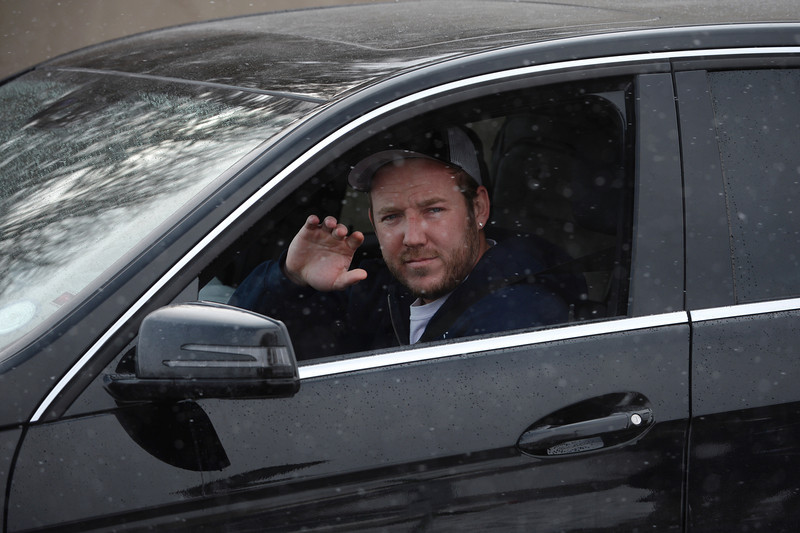 . Denver Broncos kicker Matt Prater waves to fans as he and other players leave Dove Valley for the season  in Englewood, Co on February 4, 2014. (Photo By Helen H. Richardson/ The Denver Post)