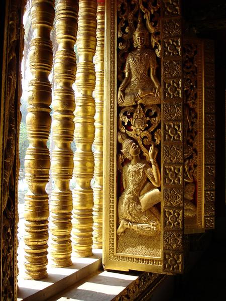 window, Royal Palace Museum Temple, Luang Prabang, Laos