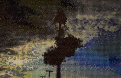 """""""Stormy Sky"""" (cross stitch) by Mariana Ivanova"""
