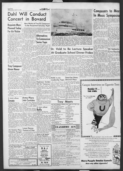 Daily Trojan, Vol. 42, No. 106, April 11, 1951
