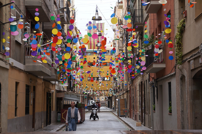 Barceloneta is a wonderful community at the edge of Barcelona along the beachfront.