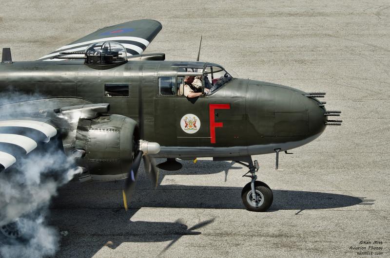 Canadian Warplane Heritage Museum B-25 Mitchell bomber at 2015 SkyFest.