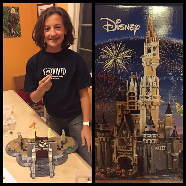 On the first night of Hanukkah, @kaylakat25 is aggressively working through the 4K+ piece Cinderella @lego Castle. We expect to find her sleeping on this table at 6 a.m. tomorrow