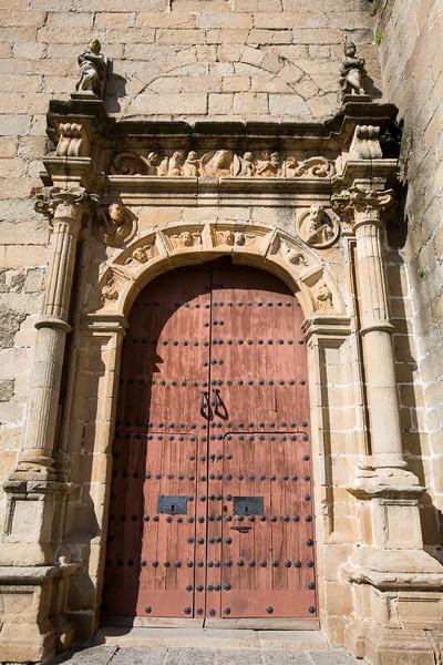 Renaissance doorway, San Mateo church, Caceres, Spain