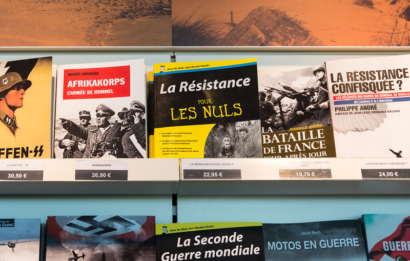 "Among the books in the gift shop:  ""The Resistance For Dummies"" and ""World War II For Dummies""!"