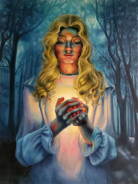 """This Little Light of Mine"" (oil) by Rachel Turi"