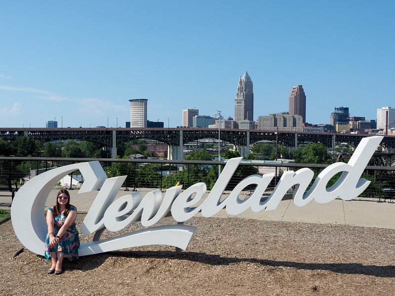 Cleveland script sign in Tremont