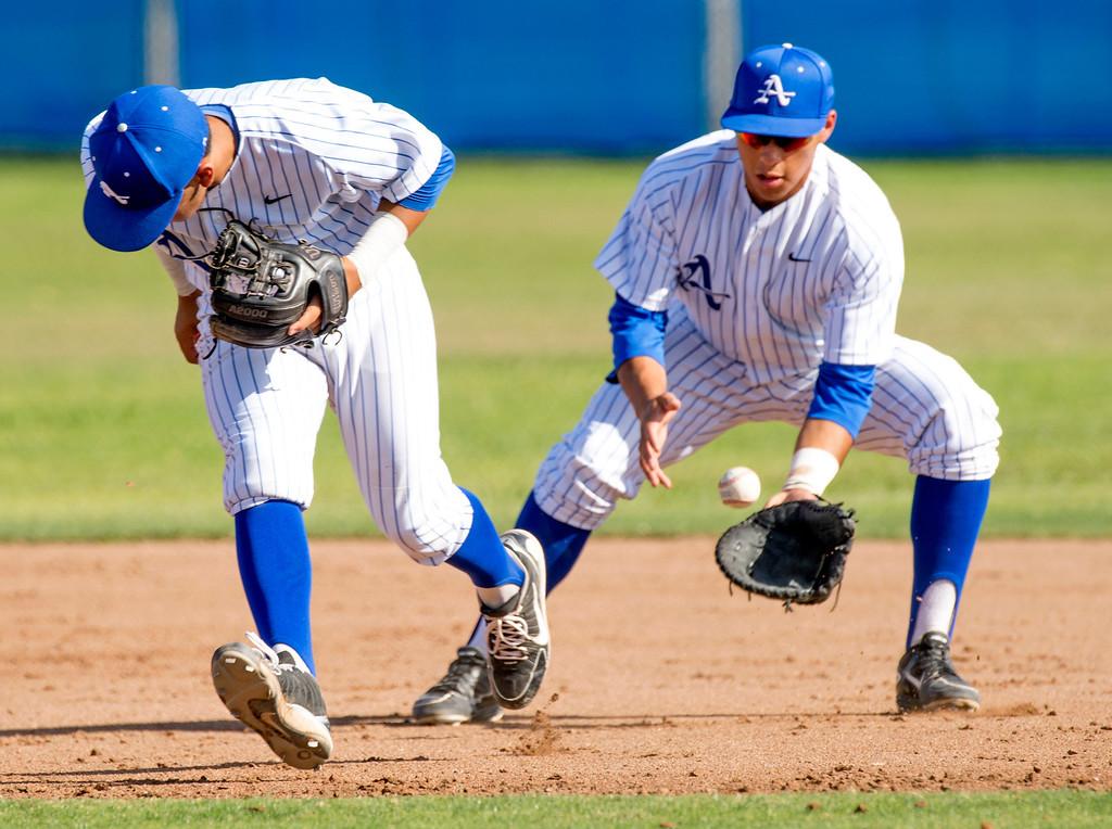 . Serra High baseball vs Bishop Amat at Amat\'s La Puente, Calif. campus field April 16, 2014.  (Staff photo by Leo Jarzomb/San Gabriel Valley Tribune)