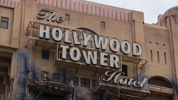 Disneyland Resort, Disney California Adventure, Hollywood Tower Hotel, Twilight Zone, Tower of Terror, Sign