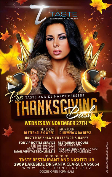 Thanksgiving @ Taste Restaurant & Nightclub 11.27.13