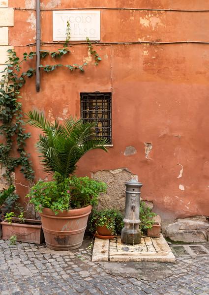 Flowerpot and water pump, Rome