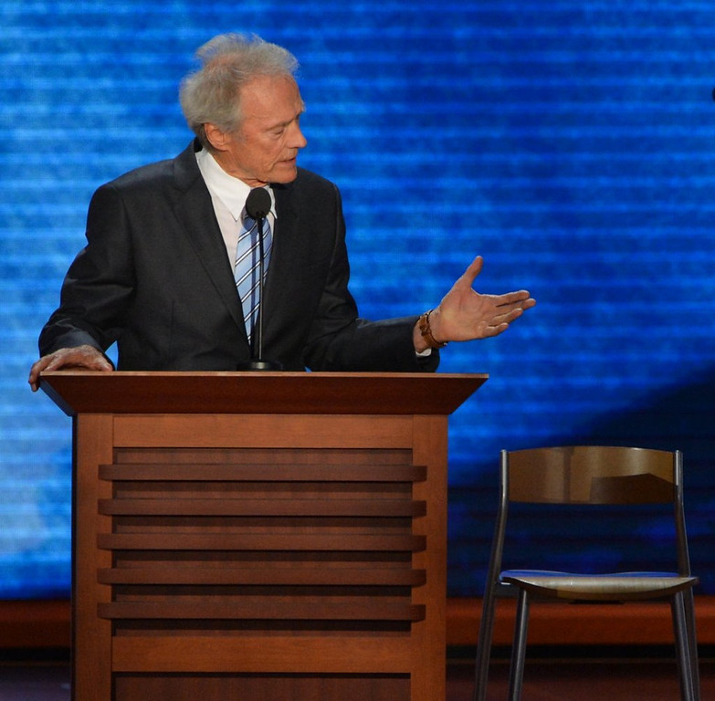 ". <p>8. CLINT EASTWOOD  <p>Cuts off conversation with an empty chair to save a choking man�s life. (unranked) <p><b><a href=\'http://www.twincities.com/breakingnews/ci_25085089/eastwood-saves-tournament-director-from-choking\' target=""_blank\""> HUH?</a></b> <p>    (Stan Honda/AFP/GettyImages)"