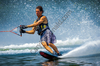 Slalom water skiing