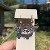 3.93ctw Ceylon Sapphire and Diamond Bee Motif Earrings 6