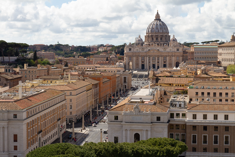 St. Peter's Basilica from Castel Sant'Angelo