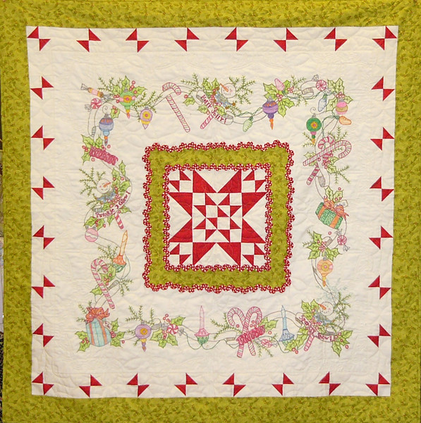 Merry Little Christmas a Crabapple Hill pattern.