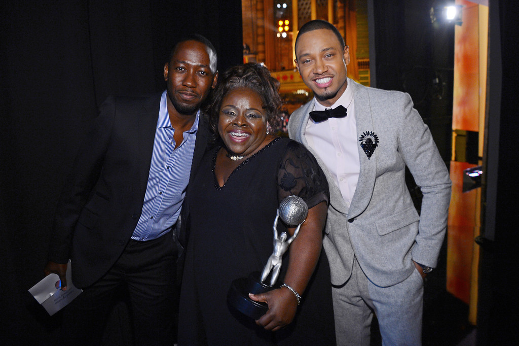 . LOS ANGELES, CA - FEBRUARY 01:  (L-R) Actors Lamorne Morris, Cassi Davis and Terrance Jenkins attend the 44th NAACP Image Awards at The Shrine Auditorium on February 1, 2013 in Los Angeles, California.  (Photo by Mark Davis/Getty Images for NAACP Image Awards)