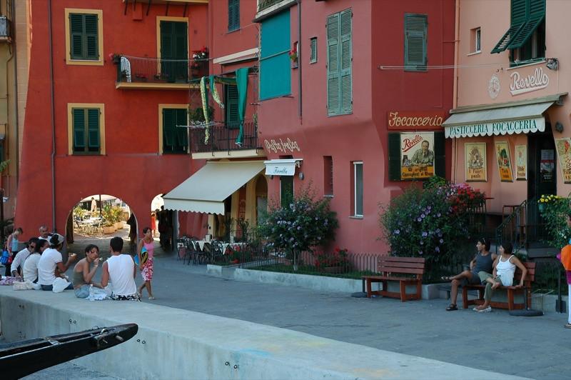 Sunday Street Scene - Camogli, Italy