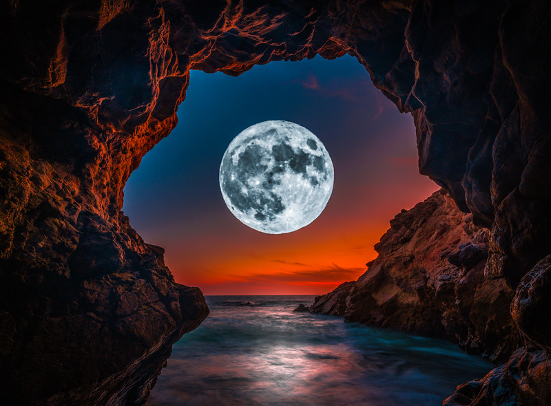 Malibu Luna: Malibu Sea Cave Symphonies: Fine Art Landscape Nature Photography