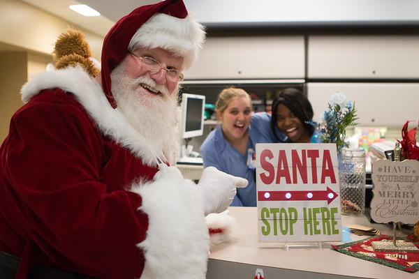 Santa visits Team Members 2017