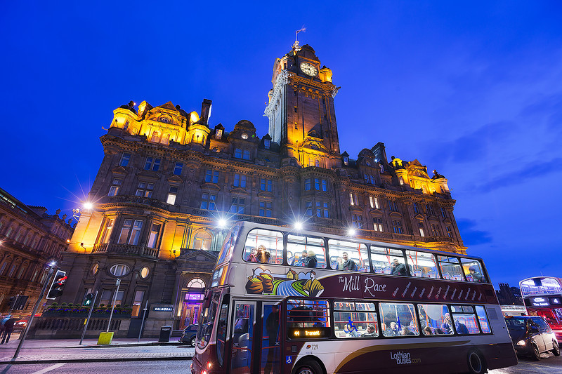 The bus in Edinburg