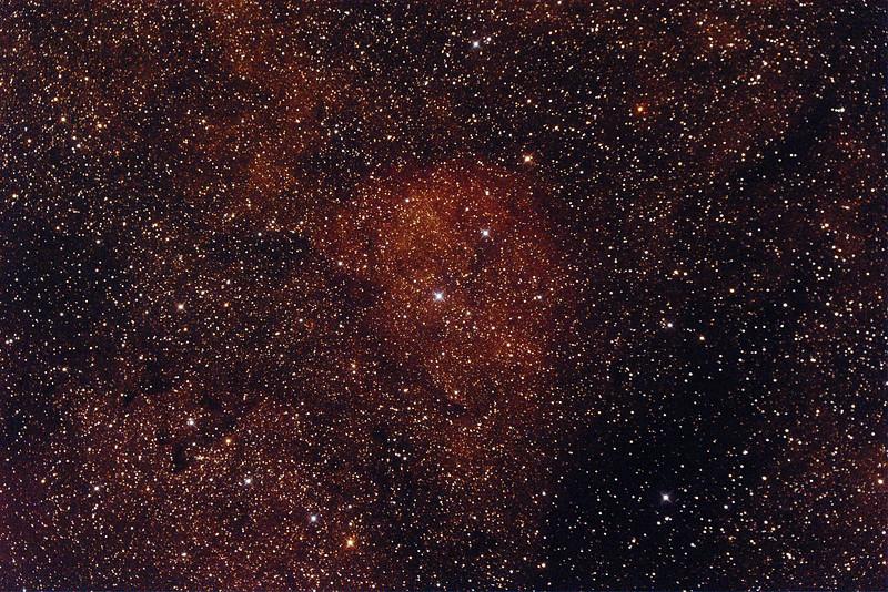 Gum68 Nebula in Scorpius - 23/9/2014 (Processed single test image)