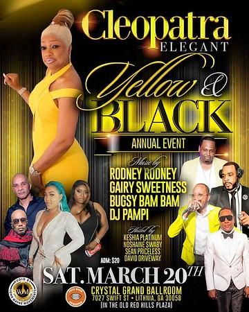 CLEOPATRA ELEGANT YELLOW & BLACK BIRTHDAY BASH