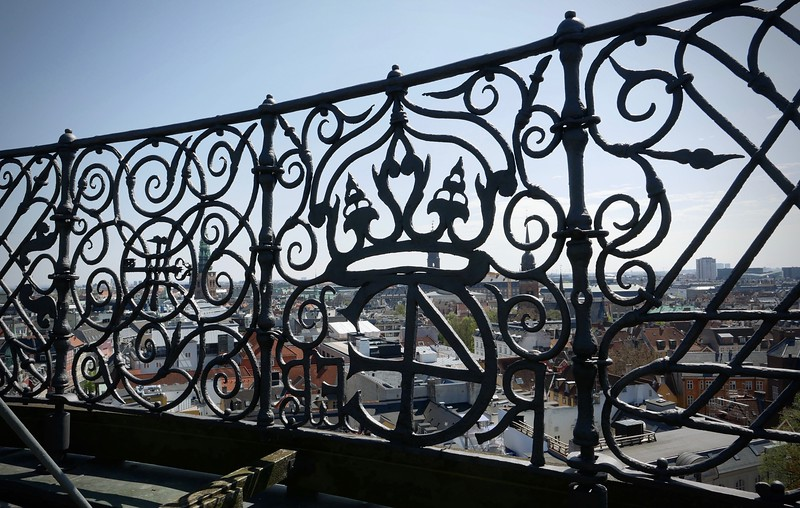 The Round Tower is not very tall really so the views are okay, but the ironwork is nice at the top