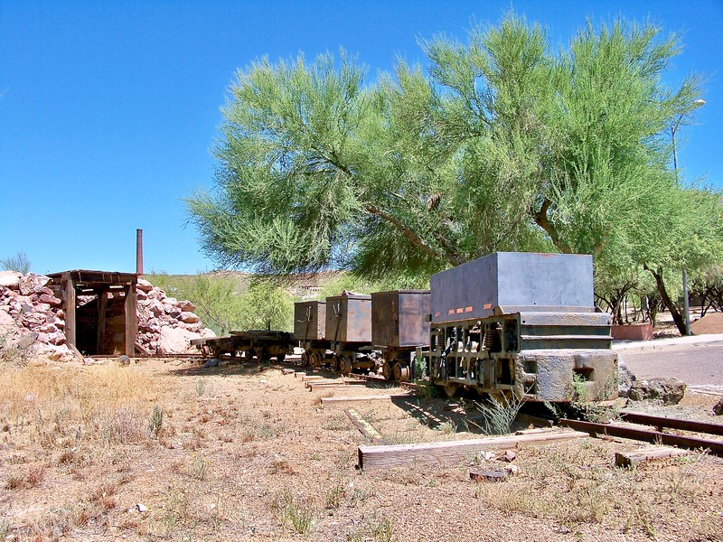 Historic mining equipment on display at the Superior History Trail (2009)