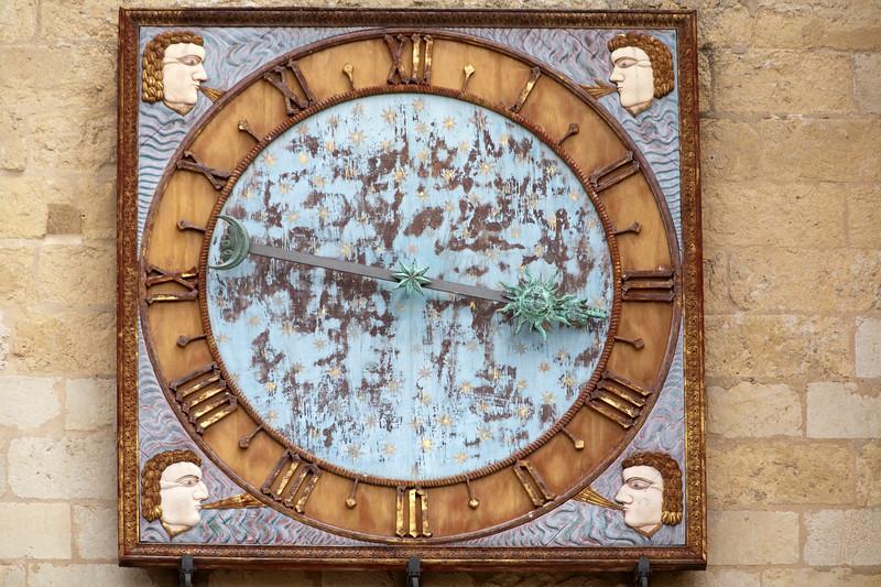 Cathedral clock, town of Leon, autonomous community of Castilla y Leon, northern Spain
