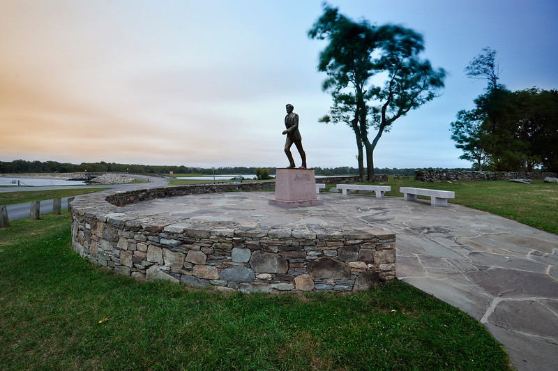John H. Chafee Memorial Statue at Colt State Park