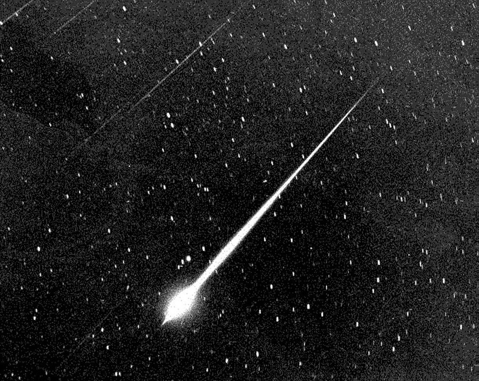 . This Bright Leonid Fireball Is Shown During The Storm Of 1966 In The Sky Above Wrightwood, Calif. The Leonids Occur Every Year On Or About Nov. 18Th And Stargazers Are Tempted With A Drizzle Of 10 Or 20 Meteors Fizzing Across The Horizon Every Hour. But Every 33 Years A Rare And Dazzling Leonids Storm Can Occur But, Astronomers Believe The 1999 Edition Of The Leonids Probably Won\'T Equal 1966, Which Peaked At 144,000 Meteors Per Hour. (Courtesy Of  (Photo By Nasa/Getty Images)