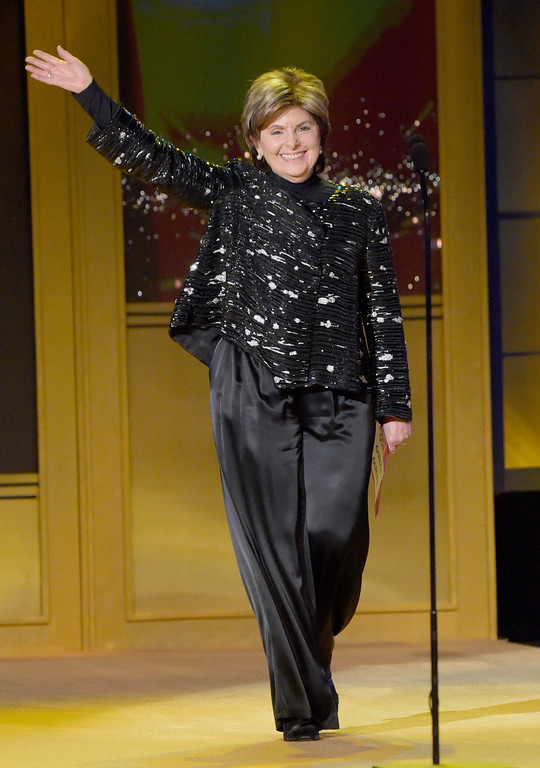 . Gloria Allred walks on stage to present the award for outstanding legal/courtroom program at the 45th annual Daytime Emmy Awards at the Pasadena Civic Center on Sunday, April 29, 2018, in Pasadena, Calif. (Photo by Richard Shotwell/Invision/AP)