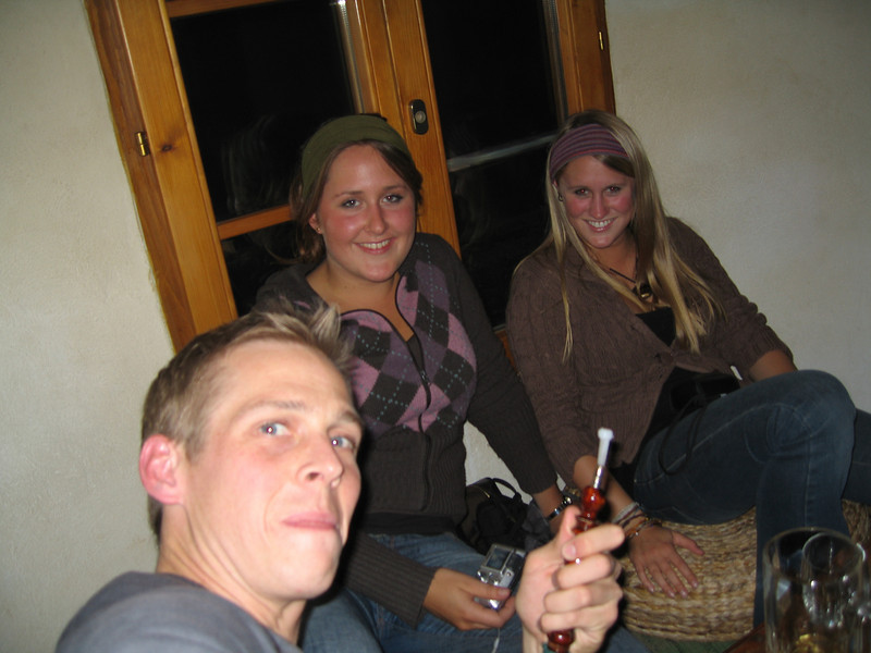 Hooka bar in the kooky little hostel (former prison)