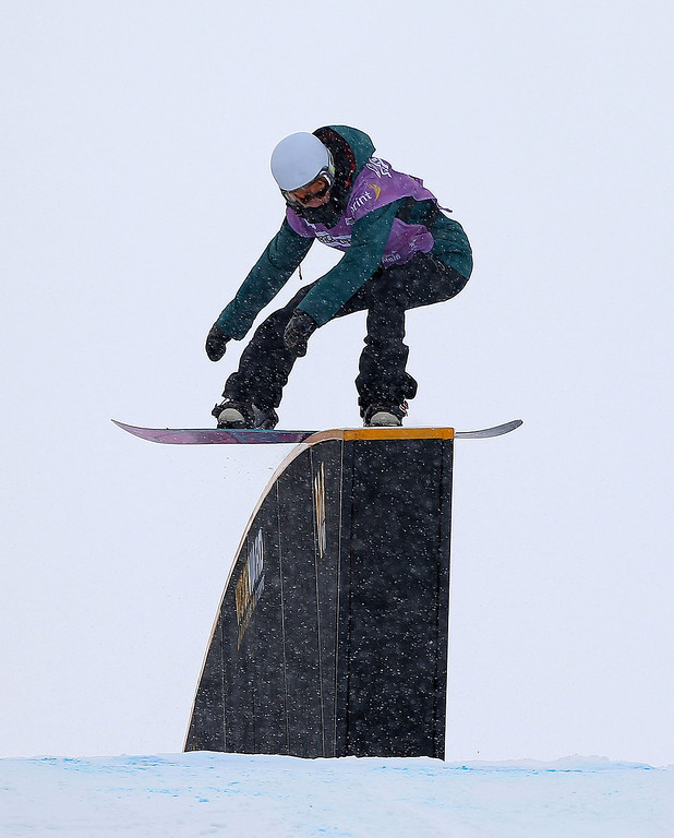 . Michaela Davis-Meehan of Australia competes during qualifying for the women\'s FIS Snowboard Slopestyle World Cup at U.S. Snowboarding and Freeskiing Grand Prix on December 20, 2013 in Copper Mountain, Colorado.  (Photo by Mike Ehrmann/Getty Images)