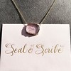 'INV My Letter' Pale Pink Glass Rebus Pendant, by Seal & Scribe 9