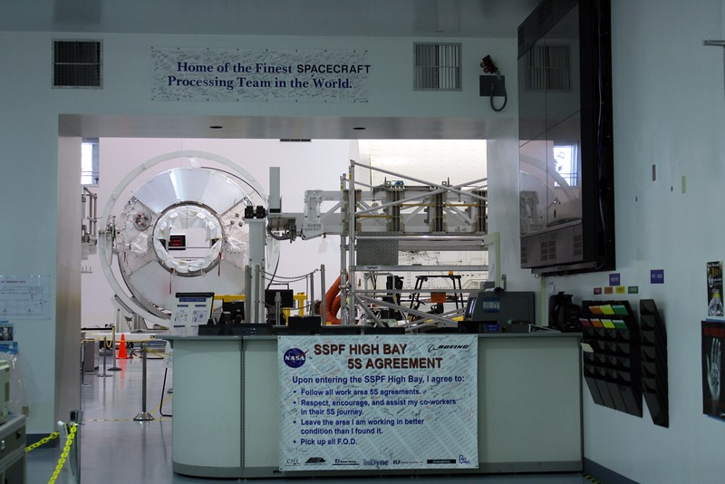 Inside the Space Station Processing Facility