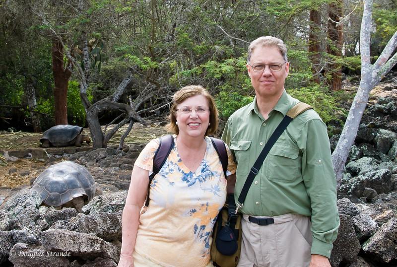 Doug & Louise at the Galapagos National Park Darwin Center