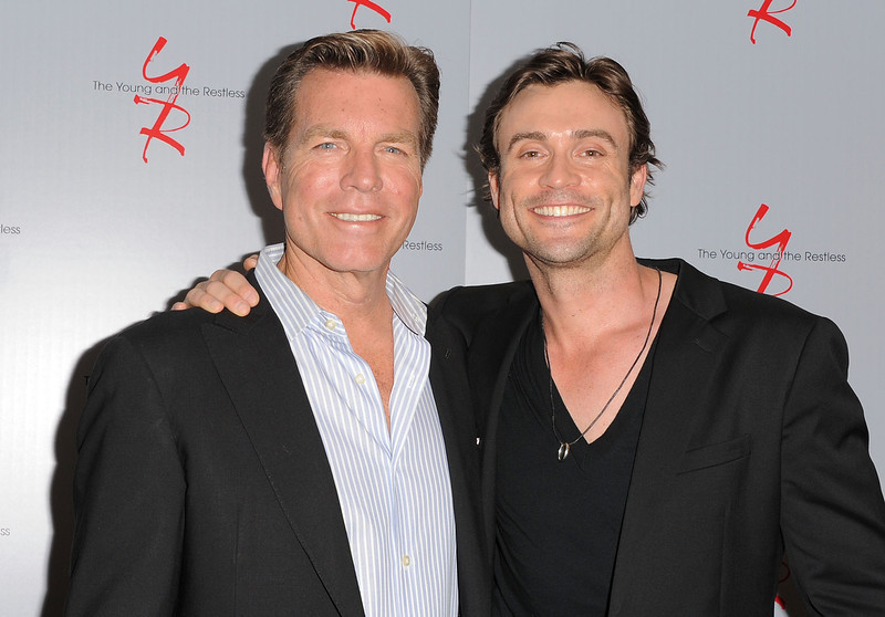 ". Actors Peter Bergman and Daniel Goddard attend the 40 years of ""The Young and The Restless\"" celebration presented by SAG-AFTRA at SAG-AFTRA on June 4, 2013 in Los Angeles, California.  (Photo by Angela Weiss/Getty Images)"