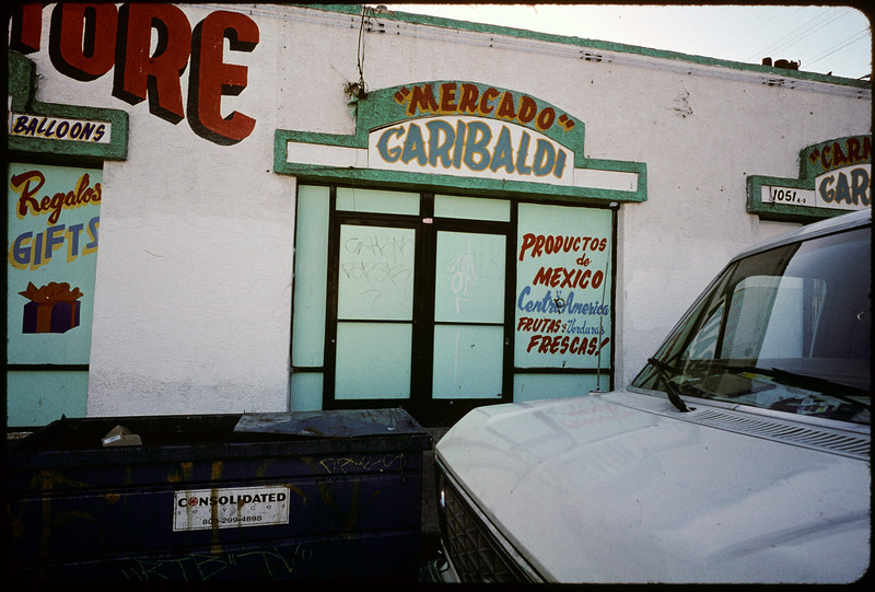 Storefront churches, commercial strip, etc. on Washington Boulevard from Vermont Avenue to Budlong Avenue, Los Angeles, 2004