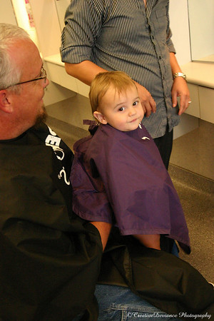 Oliver's 1st Haircut - July 2008