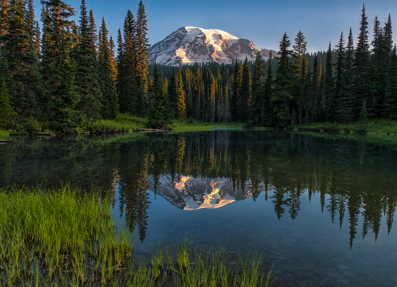 Rainier Sunrise Reflection