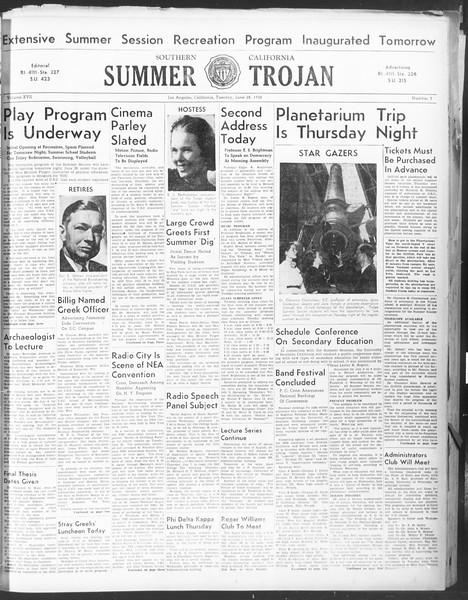Summer Trojan, Vol. 17, No. 3, June 28, 1938