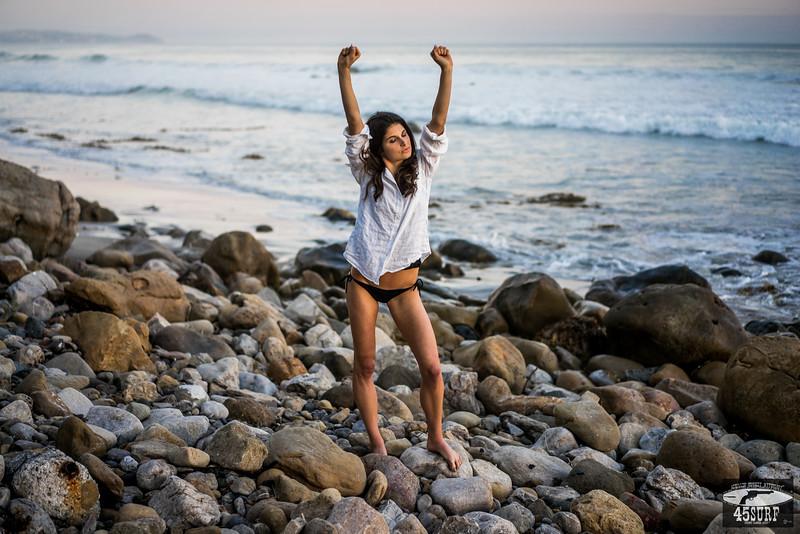 Green Eyed Goddess Malibu Sunset!  Sony A7R RAW Photos of Pretty Brunette Bikini Swimsuit Model Goddess in Seaside Bluff Cliff! Carl Zeiss Sony FE 55mm F1.8 ZA Sonnar T* Lens! Lightroom 5.3 Malibu Beach!