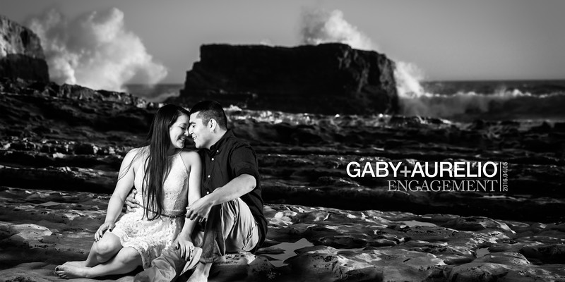 Gaby and Aurelio (Engagement Photography) @ Davenport Beach, California