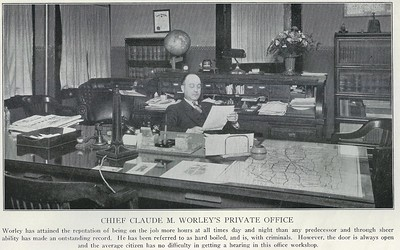 Chief Claude Worley's private office 1929